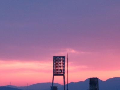 20100614_ピンクの夕空