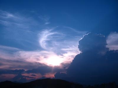 20100724_夕空と雷雲