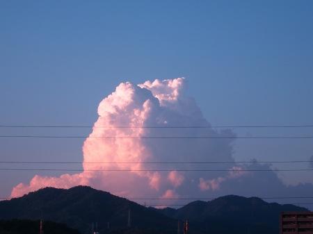 20100817_夕空と入道雲1