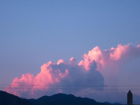 20100817_夕空と入道雲2