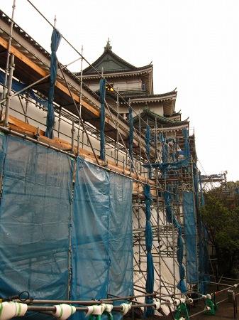 20101003_和歌山城工事中