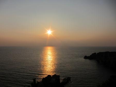 20101004_三段壁からの夕陽
