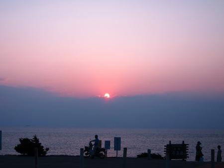 20101004_千畳敷からの夕陽1