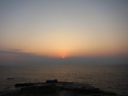 20101004_千畳敷からの夕陽2