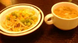 けんのサラダとスープ