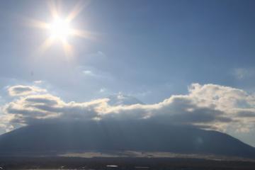 雲がきれてきた~!