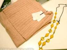 LOUNIE(ルーニィ)通販:ルーニィ2009秋冬物:ピンクのニットワンピースと、ネックレスをお買い上げ^^♪