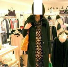 LOUNIE(ルーニィ)通販:ルーニィ2009秋冬物:ルーニィ三番街店にて。パネルドット柄ワンピースを着ていました♪
