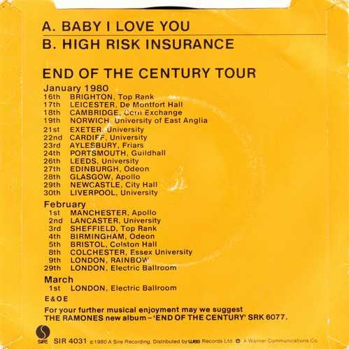 RAMONES - Baby I Love You 2