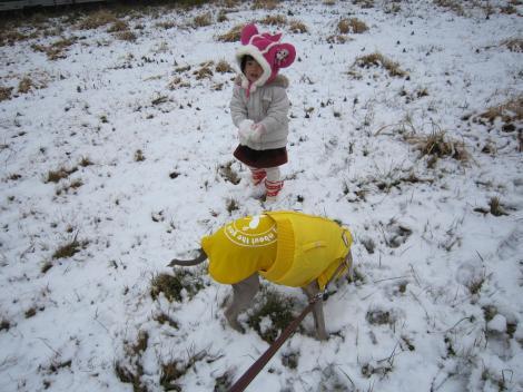 子供雪すきだよね~