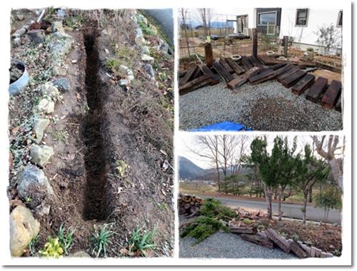 2013・2・23・枕木立て&伐採