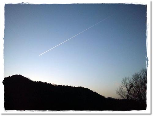 2013・2・28・飛行機雲