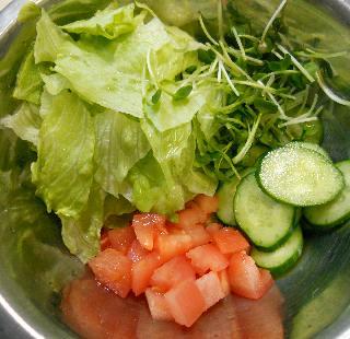 国嵩特製サラダ牛丼2