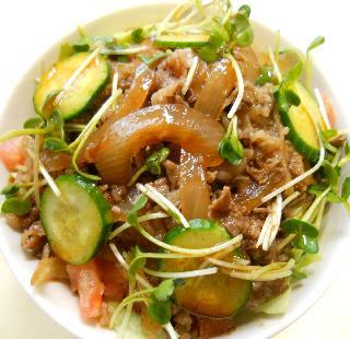 国嵩特製サラダ牛丼10