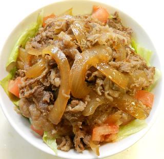 国嵩特製サラダ牛丼9