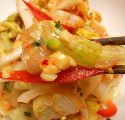 白身魚のキムチサラダ11