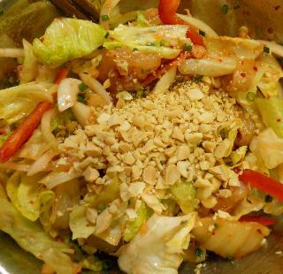 白身魚のキムチサラダ8