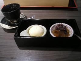 和彩膳のデザートとコーヒー