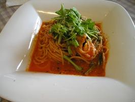 モッツァレラチーズとハーブ鶏 ホウレン草のトマトソース