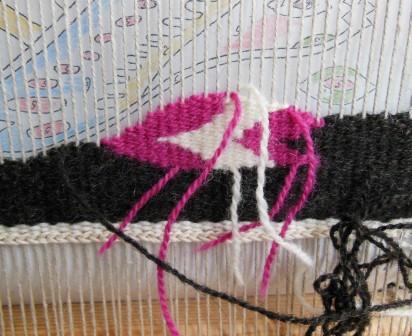 フレミッシュ織り講座 課題2 織り始め