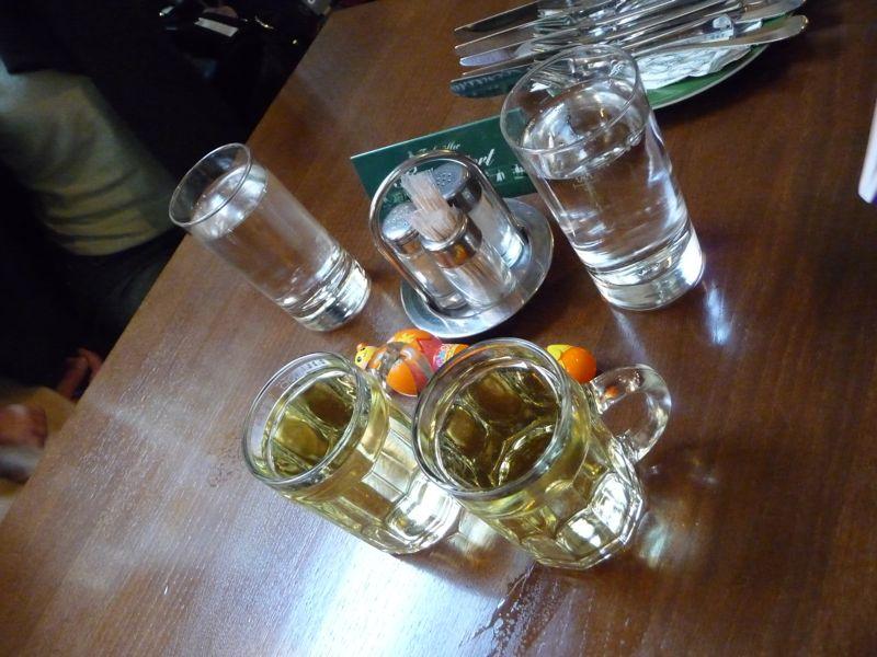 ジョッキ白ワイン