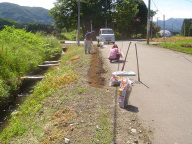 部落花植え1595