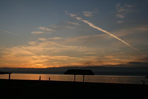ヨルダン アカバ ビーチの夕焼け