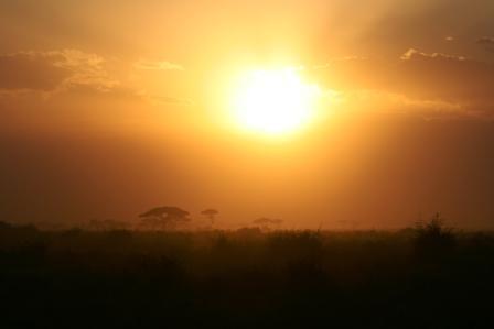 ケニア 夕日