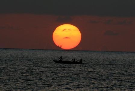 ザンジバル 朝日