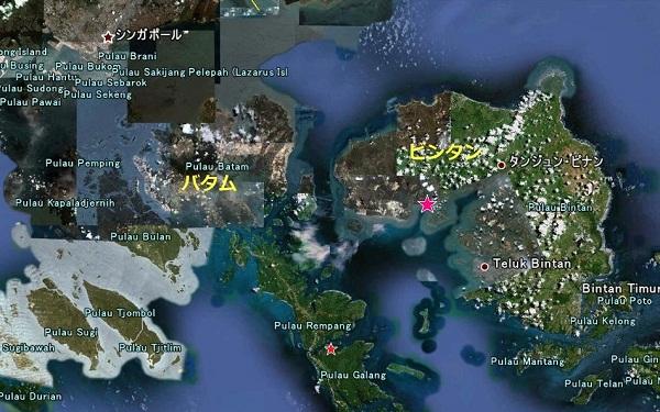 地球にマングローブを!!プロジェクト 新マングローブ植林地(ビンタン)