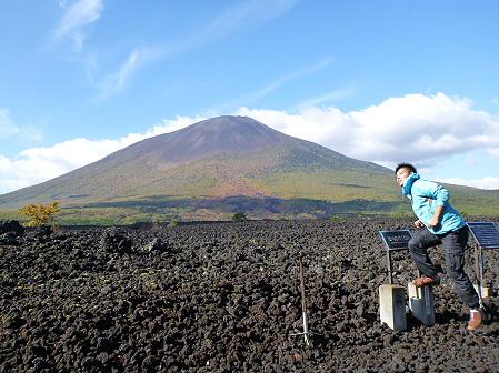 岩手山焼走り熔岩流の紅葉01(2011.10.11)