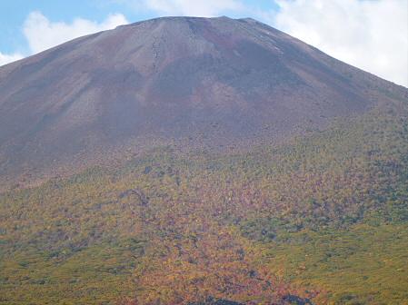 岩手山焼走り熔岩流の紅葉07(2011.10.11)