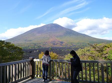岩手山焼走り熔岩流の紅葉11(2011.10.11)