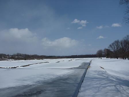 松川温水路02(2011.3.9)