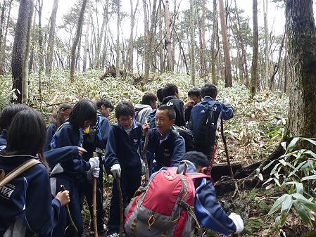教育旅行姫神登山07(2011.5.13)