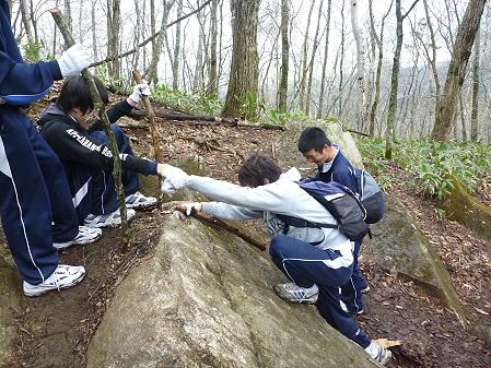 教育旅行姫神登山15(2011.5.13)
