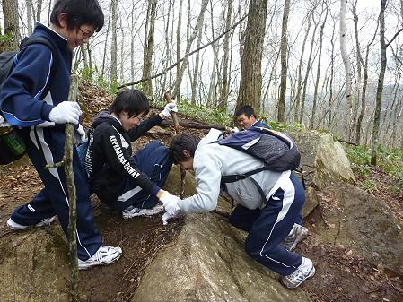 教育旅行姫神登山16(2011.5.13)