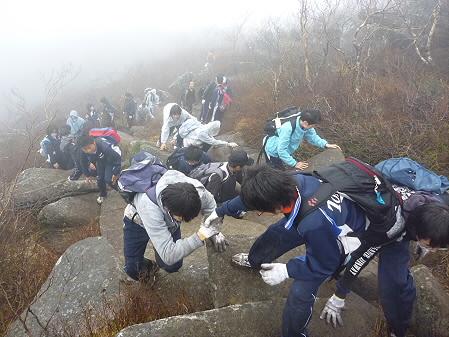 教育旅行姫神登山28(2011.5.13)