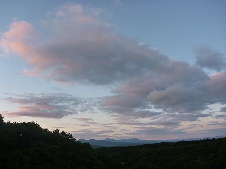 夕暮れの岩手山パノラマライン02(2011.6.15)