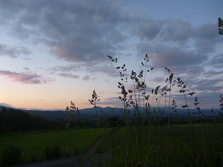 夕暮れの岩手山パノラマライン05(2011.6.15)