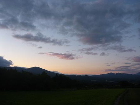夕暮れの岩手山パノラマライン06(2011.6.15)