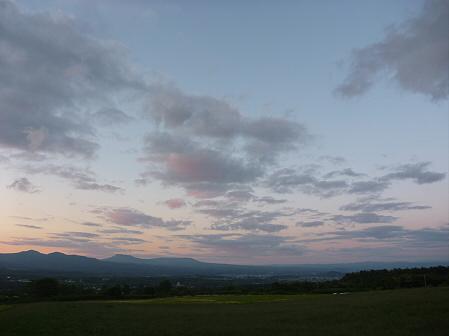 夕暮れの岩手山パノラマライン08(2011.6.15)