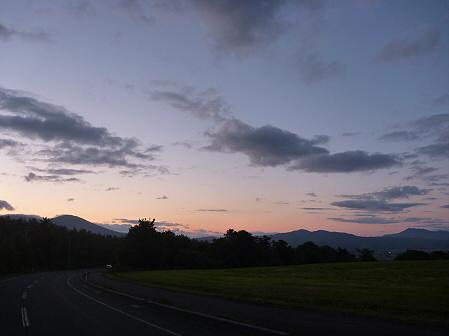 夕暮れの岩手山パノラマライン11(2011.6.15)