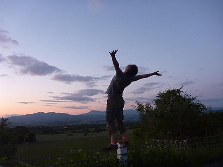 夕暮れの岩手山パノラマライン01(2011.6.15)