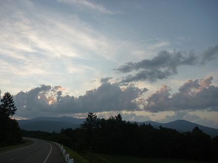 夕方の岩手山パノラマライン06(2011.7.12)