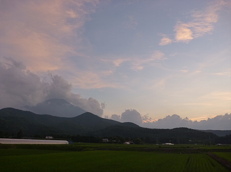 夕方の岩手山パノラマライン17(2011.7.12)