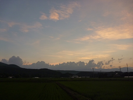 夕方の岩手山パノラマライン18(2011.7.12)