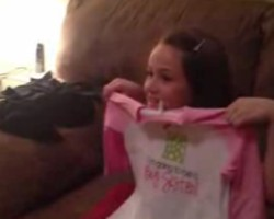 Ashlyns surprise reaction to being a big sister