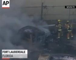 Fiery Plane Crash in Fla Parking Lot