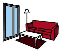 最近のマンションでは、個室の広さよりもリビングの広さが重視されるようになっている。